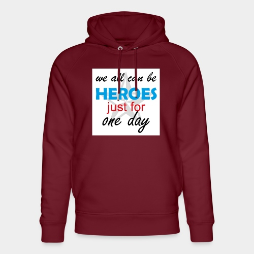 GHB Jeder kann ein Held sein 190320183w - Unisex Bio-Hoodie von Stanley & Stella