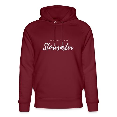 Jeg skal være storesøster - Stanley & Stella unisex hoodie af økologisk bomuld
