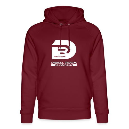 Digital Room Records Official Logo white - Unisex Organic Hoodie by Stanley & Stella