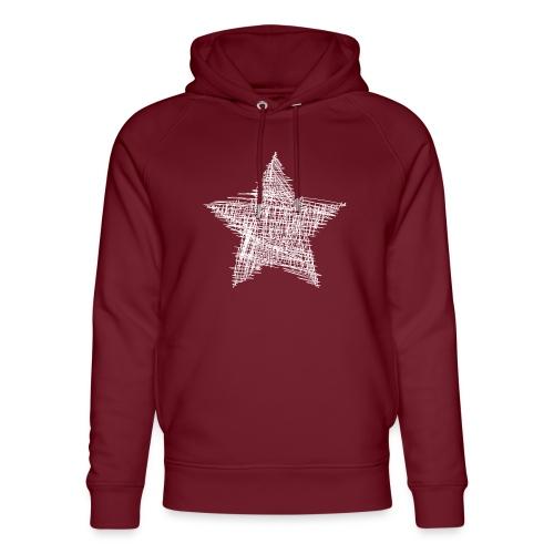 Estrella blanca - Sudadera con capucha ecológica unisex de Stanley & Stella