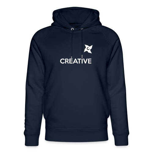 Creative simple black and white shirt - Stanley & Stella unisex hoodie af økologisk bomuld