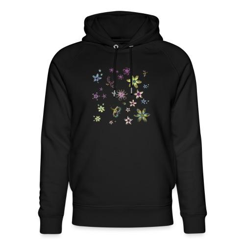 flowers and butterflies - Felpa con cappuccio ecologica unisex di Stanley & Stella