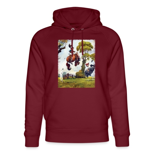 PonyRodeo Thelwell Cartoon - Unisex Organic Hoodie by Stanley & Stella