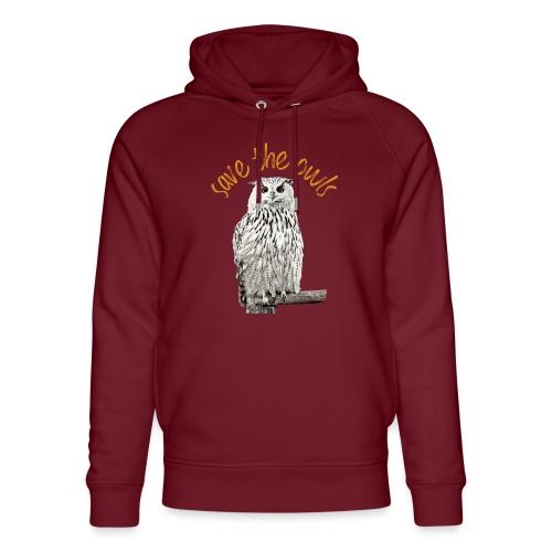 Snowy Owl Save the Owls Photo Art - Unisex Organic Hoodie by Stanley & Stella