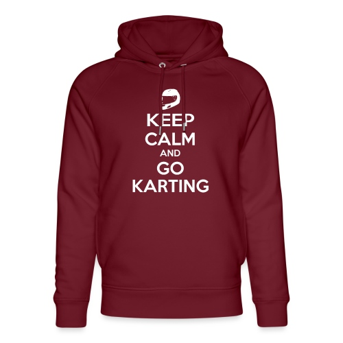 Keep Calm and Go Karting - Unisex Organic Hoodie by Stanley & Stella
