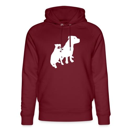 Doggy / zwei brave Hunde zum verschenken - Unisex Bio-Hoodie von Stanley & Stella