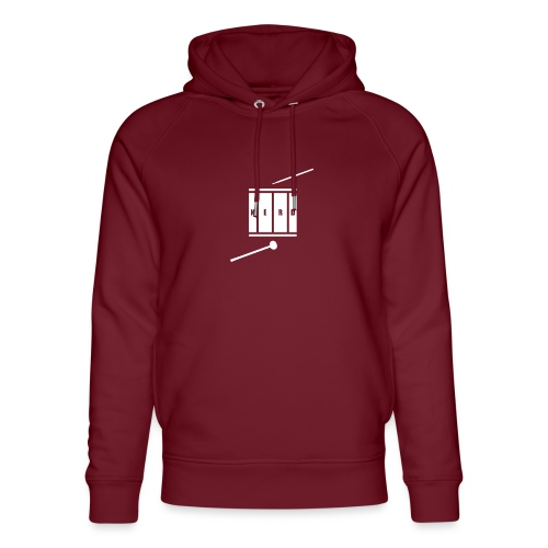 Nerd_Logo White - Stanley & Stella unisex hoodie af økologisk bomuld