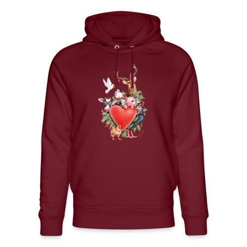 Christmas heart by Maria Tiqwah - Unisex Organic Hoodie by Stanley & Stella