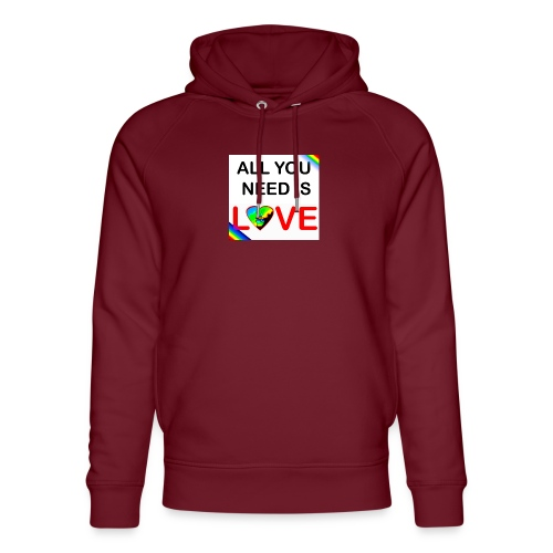 all you need is peace and love - Sweat à capuche bio Stanley & Stella unisexe