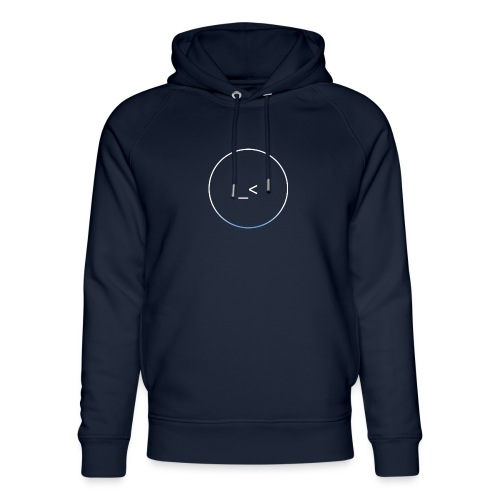 White and white-blue logo - Unisex Organic Hoodie by Stanley & Stella