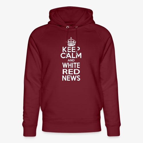 Tazza Rossa Keep Calm WRN - Felpa con cappuccio ecologica unisex di Stanley & Stella