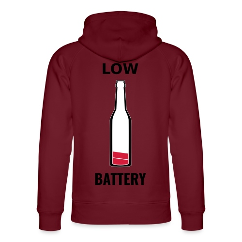 Beer Low Battery - Sweat à capuche bio Stanley & Stella unisexe