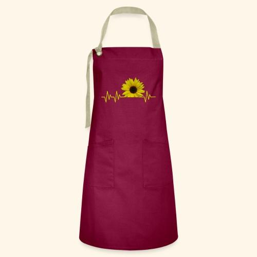 sunflowerbeat - zauberhafte Sonnenblume - Kontrastschürze