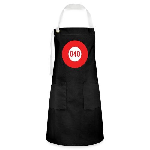 040 logo - Contrasterende schort