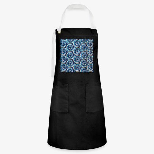 Spirales au motif bleu - Tablier contrasté