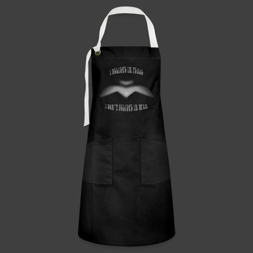 I believe in peace 4 png - Artisan Apron