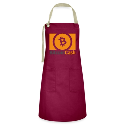 Bitcoin Cash - Kontrastivärinen esiliina