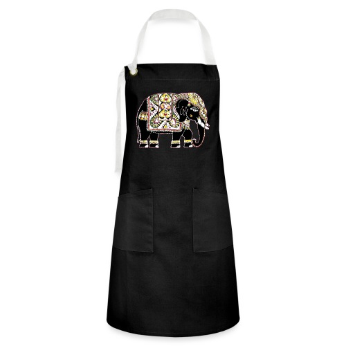 Indian elephant for luck - Artisan Apron