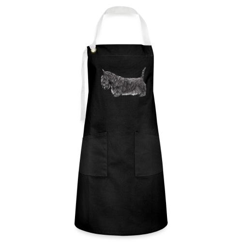 skotsk terrier ub - Kontrastforklæde