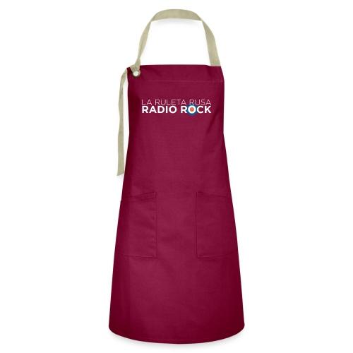 La Ruleta Rusa Radio Rock, Landscape White - Delantal Artesanal