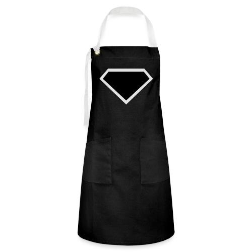 Diamond Black - Two colors customizable - Contrasterende schort
