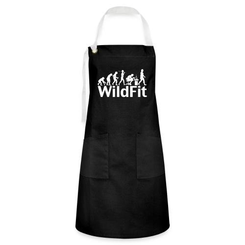 WildFit Logo Evolution Weiß - Kontrastschürze