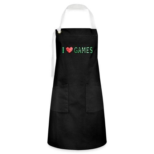 I Love Games - Fartuch z kontrastowymi paskami