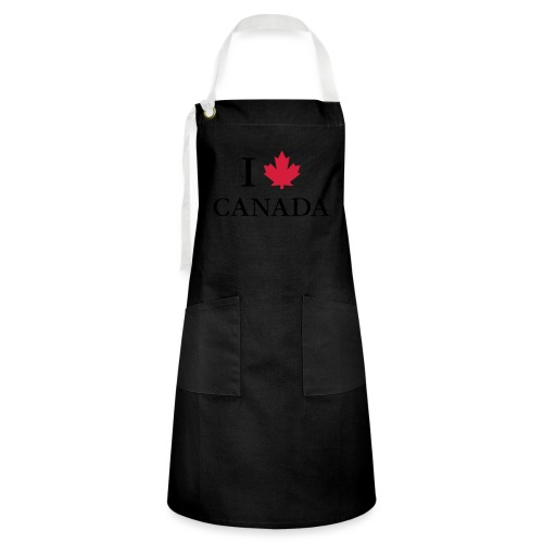 I love Canada Ahornblatt Kanada Vancouver Ottawa - Kontrastschürze