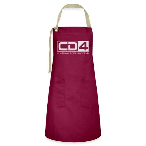 cd4 logo dikker kader bold font - Contrasterende schort