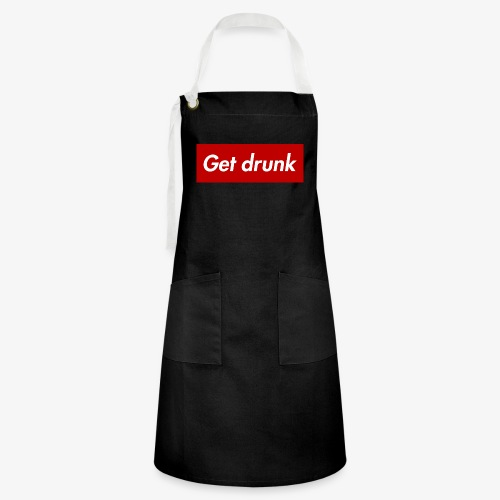 Get drunk - Kontrastschürze