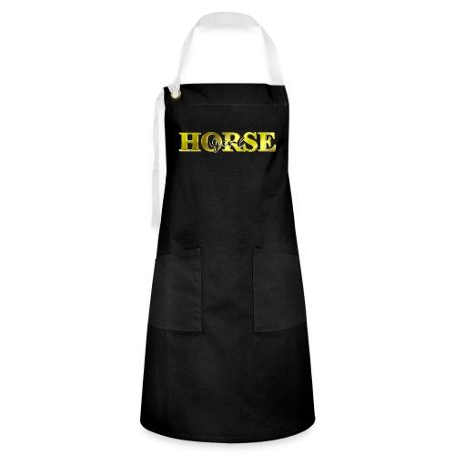 Horsegirl Reiten Pferde Geschenk - Kontrastschürze