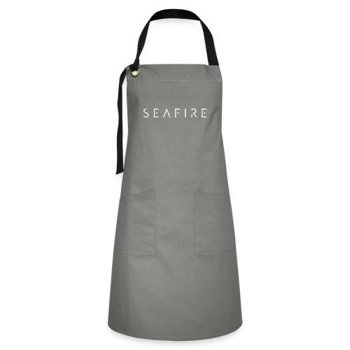 Seafire logo WHITE - Contrasterende schort