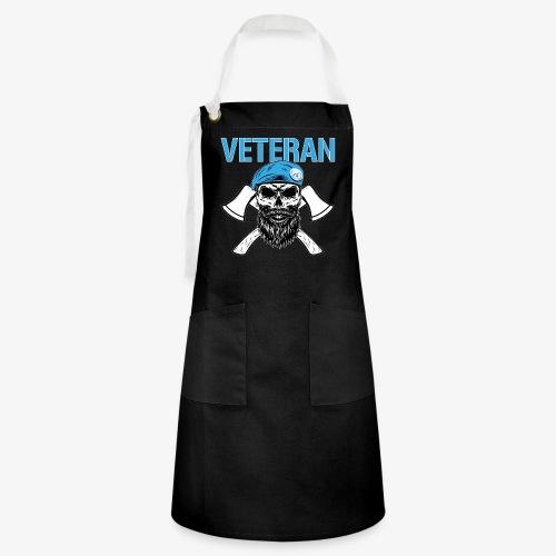 FN-veteran - Korslagda yxor - Kontrastförkläde
