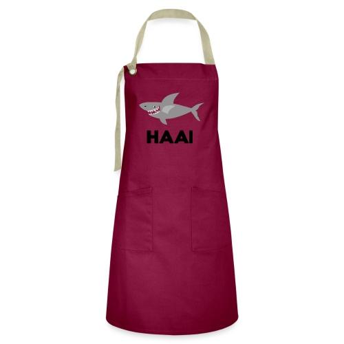 haai hallo hoi - Contrasterende schort