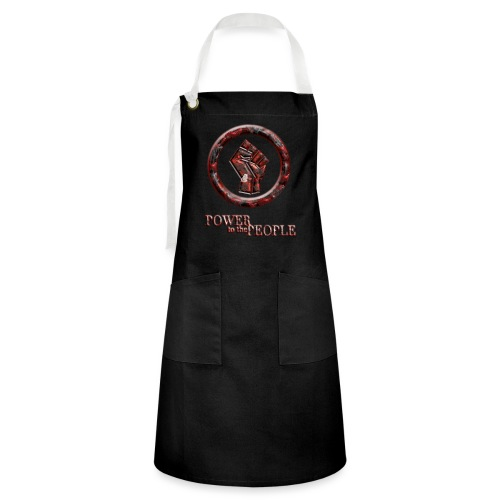 Power to the people - butterfly - Artisan Apron