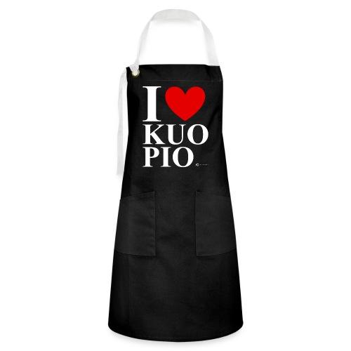 I LOVE KUOPIO ORIGINAL (valkoinen) - Kontrastivärinen esiliina