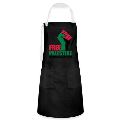 Free Palestine End Israeli Occupation - Artisan Apron