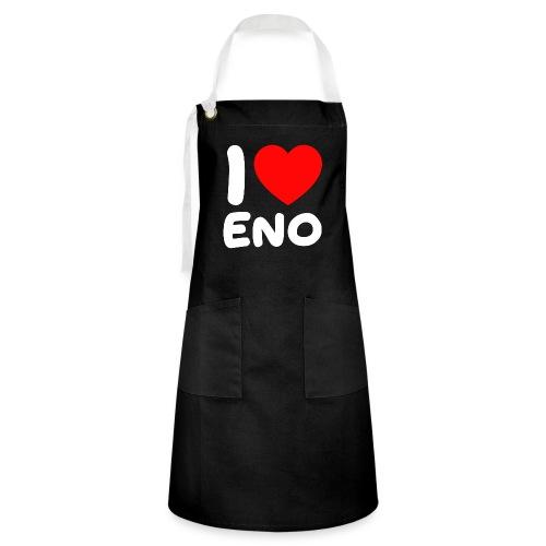 I love Eno / valkoinen - Kontrastivärinen esiliina