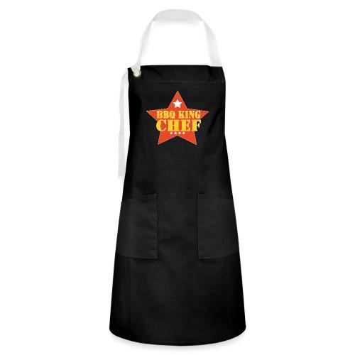 BBQ schort man - bbq king - chef - Contrasterende schort