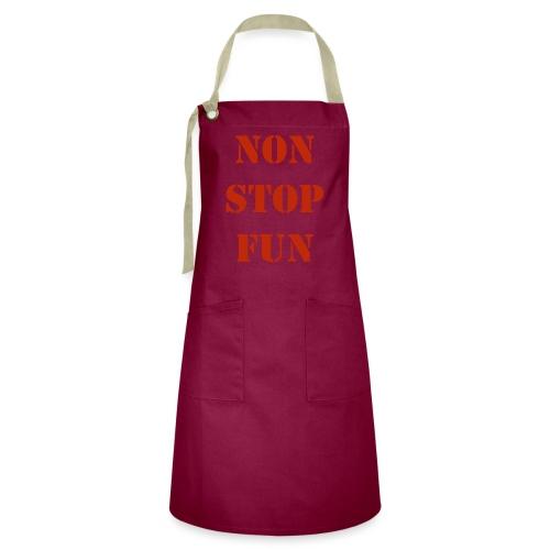 non stop fun - Kontrastschürze
