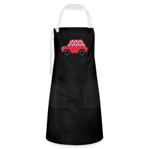The Car Of Life - M02, Sacred Shapes, Red/186 - Artisan Apron