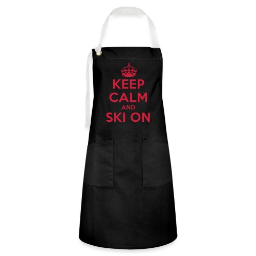 keep calm and ski on - Kontrastschürze