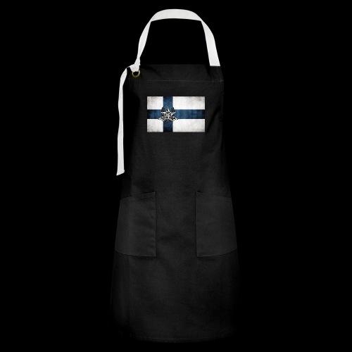 Suomen lippu - Kontrastivärinen esiliina