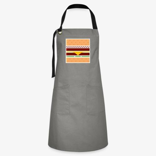 Square Burger - Grembiule artista