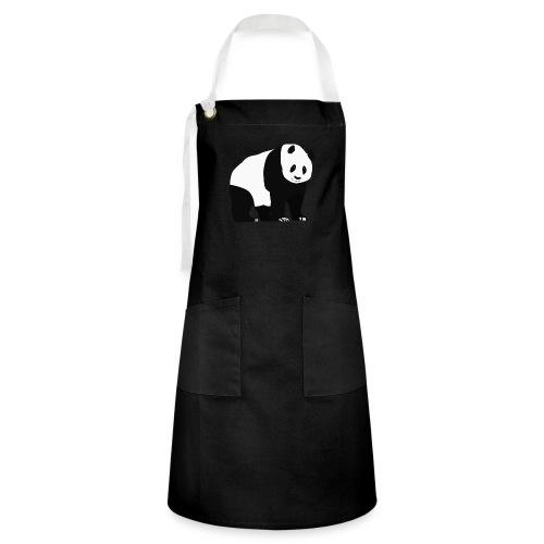 Panda - Kontrastivärinen esiliina