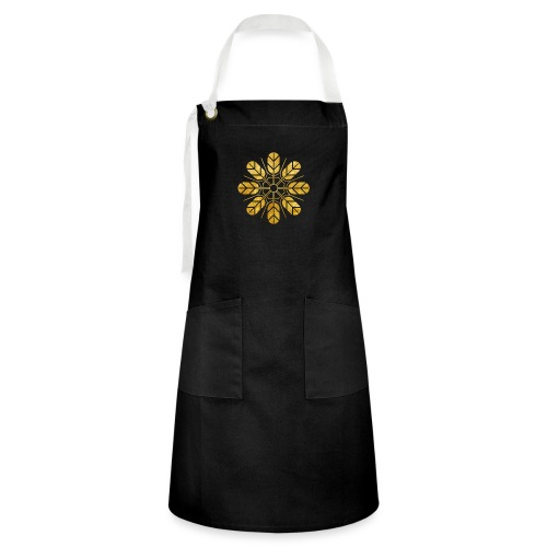 Inoue clan kamon in gold - Artisan Apron