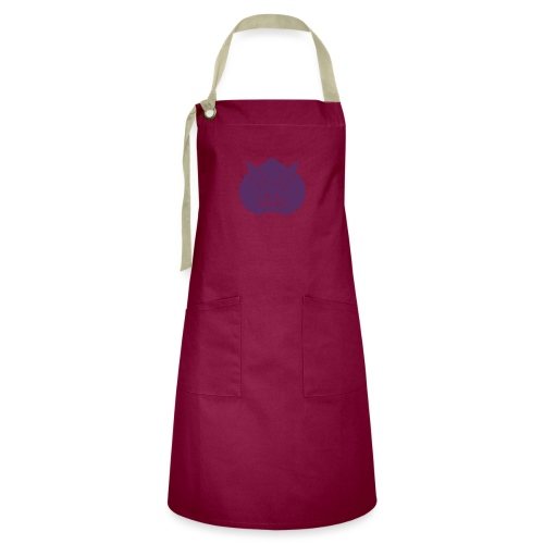 Usagi kamon japanese rabbit purple - Artisan Apron