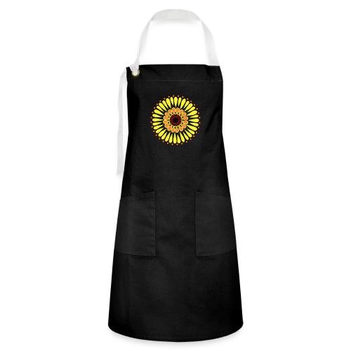 Yellow Sunflower Mandala - Artisan Apron