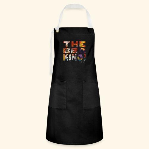 THE BBQ KING T SHIRTS TEKST - Contrasterende schort