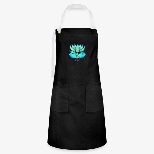 Lotus bleu chakra - Tablier contrasté